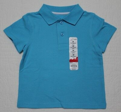 New Jumping Beans Baby Boys Polo Collar Style Shirt Tahiti Blue Sz 24M 2T 3T 4T