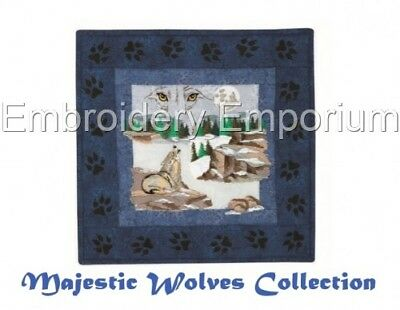 Majestic Wolves Collection - Machine Embroidery Designs On Cd Or Usb
