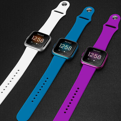 Fitbit Versa Lite Edition Activity Fitness Sleep smartwatch (S&L Bands Included)