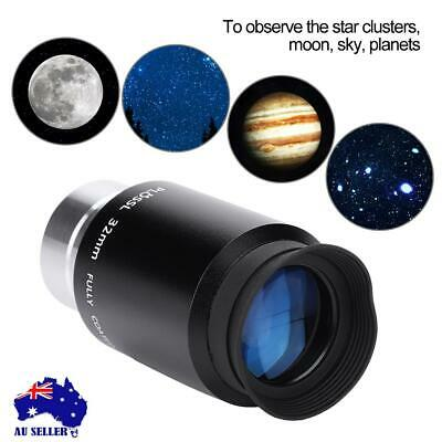 "1.25"" Plossl 20/32mm Eyepiece Multicoated Lens for Astronomy Telescope Black AU"