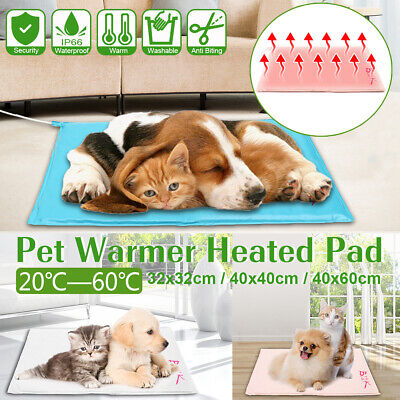 Electric Pet Heating Pad Heat Heated Heater Mat Blanket Bed Dog Cat Waterproof