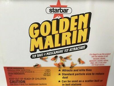 1lb repackaged Original Golden Malrin Fly Bait Methomyl DANGER: Kills Raccoons