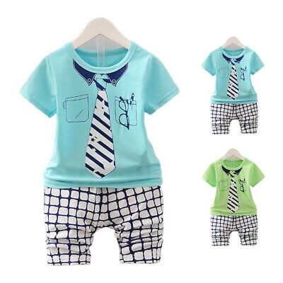 Outfit Summer Short Sleeve Tops Pants Cute Children Newborn Clothes Clothing
