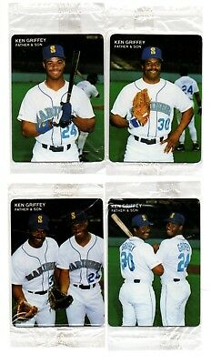85f3494ed5 Ken Griffey Jr ⚾ Hard2Find 1991 Mothers Cookies 4 Father & Son Orginal  Wrapers