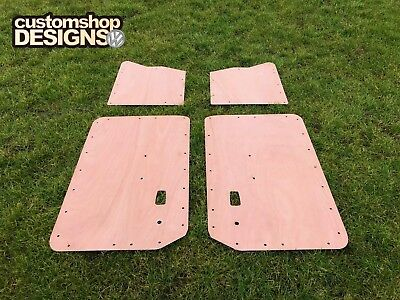 VW 1500 / 1600 Type 3 Fastback Car 1961 - 1973 Door Cards 3.6mm Ply Lining Kit
