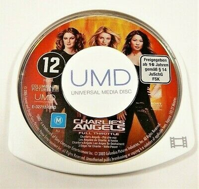 "Charlies Angels Full Throttle Movie Disk Only Psp ""Gc"" Auz Seller"