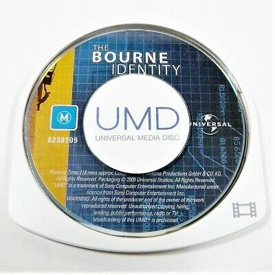 "The Bourne Identity Movie Disk Only Psp ""Gc"" Auz Seller"