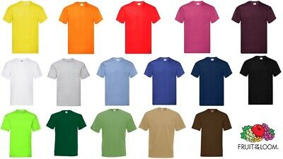 T-Shirt Uomo Fruit Of The Loom- Original T- 61082- Maglietta Manica Corta Cotone
