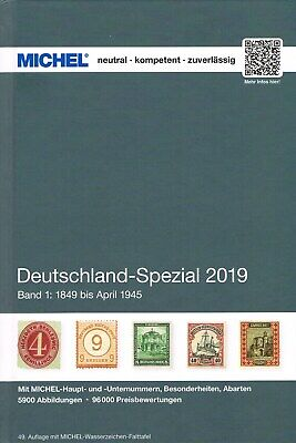 MICHEL CATALOGO GERMANIA SPECIALIZZATO VOLUME 1 2019 Deutschland Spezial