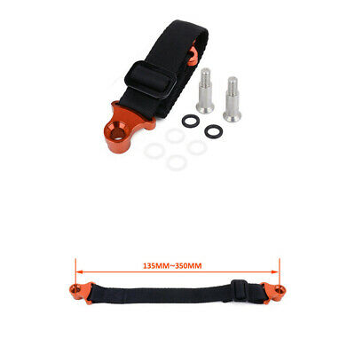 Orange CNC Adjustable Motorcycle Rear Rescue Strap Pull Sling Tow Belt Leashes