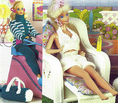 Sindy Dolls Clothes Fashion Doll Knitting Pattern 2 Outfits    (516)