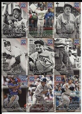 2019 Topps Series 1  150 Years of Professional   (YOU Pick  Your  Player)  1-150