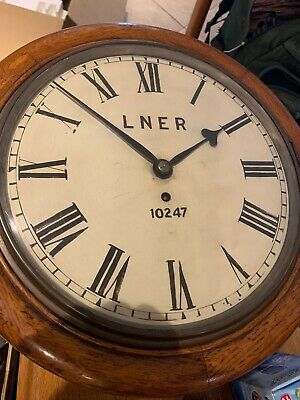LNER FUSEE CLOCK BRASS MOVEMENT 10247 Runs, Not Perfect