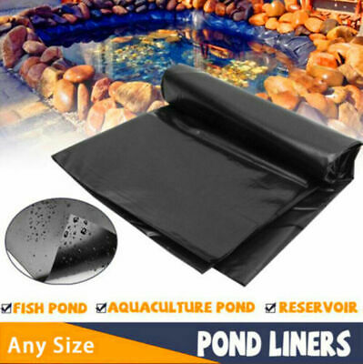 3-30ft Black HDPE Fish Pool Pond Liner Membrane Gardens Pools Landscaping New