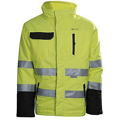 DBlade Mens High Visibility Winter Waterproof Jacket Yellow