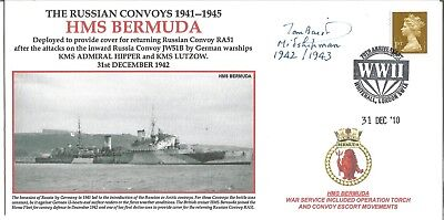 HMS Bermuda official Navy cover signed by Vice Admiral Thomas Baird KCB DL. M718