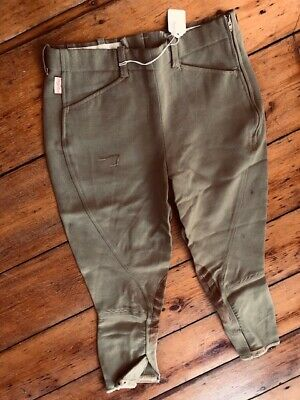 TAILORED SPORTSMAN Side Zip Horse RIDING Breeches Youth sz 12 *VGC* Green/Beige