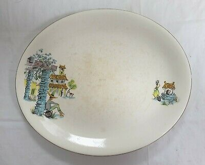 Easy To Use Lovely Condition 2 X Vintage Alfred Meakin Brisbane Oval Platters