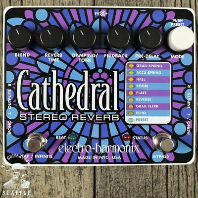Used Electro-Harmonix Cathedral Stereo Reverb Pedal