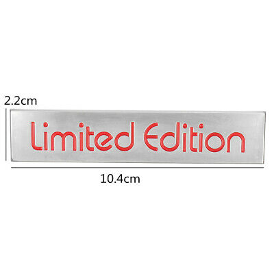 10.4x2.2cm 3D Auto Red Limited Edition Logo Emblem Badge Metal Sticker Decal