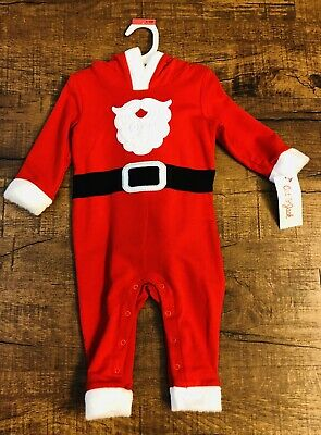 0b4f91b543c35 Cat And Jack Baby Boy Santa Christmas Outfit One Piece 0-3 Months NWT
