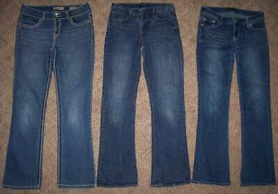 VINTAGE AMERICA, LEVI'S & EXPRESS DISTRESSED JEANS LOT (3pr) WOMENS Size 8