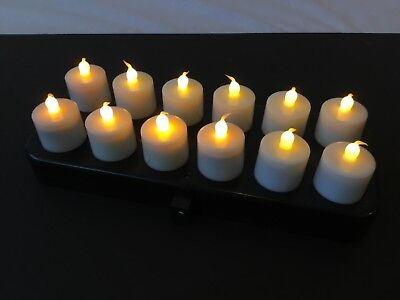 12 LED Tea Lights/Candles, Wireless, Remote, Rechargeable