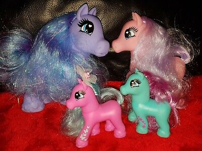 Bundle of Four My Little Pony All In Great Condition with lovely hair to comb