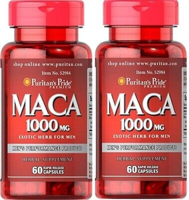 2X Maca 1000 mg Exotic Herb for Men x 60 (120) Capsules - 24HR DISPATCH