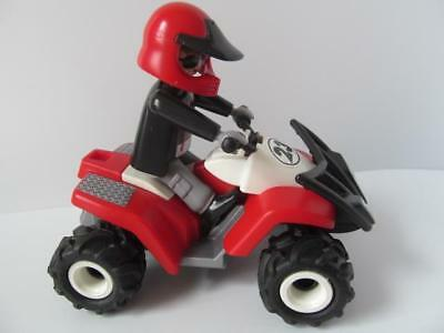 Playmobil Adventure//Sport pull back /& go quad bike//buggy with helmet /& winch NEW