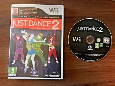 Wii Game Just Dance 2 for Wii Kids 3+ 1-4 Players  **FREE POSTAGE**