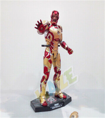 Iron Man Diecast Mark MK42 with LED Light Action Figure 1/6th Model Toy
