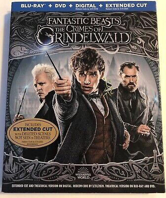 Fantastic Beasts: The Crimes of Grindelwald (Blu-Ray+DVD+Digital+Extended Cut)
