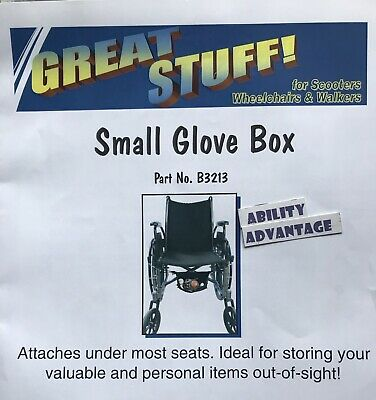 Diestco SMALL GLOVE BOX for wheelchairs - Pt. #B3213 - NEW - BEST PRICES  !!!