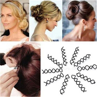 Hair Styling 10pcs Spiral Spin Screw Bobby Pin Hair Clip Twist Barrette Bl La