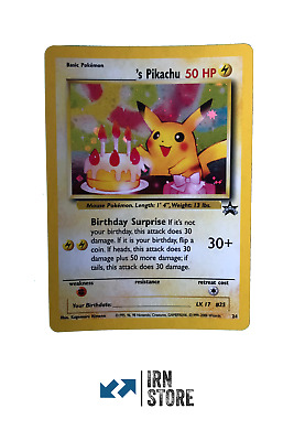Pokemon Black Star Promo BIRTHDAY PIKACHU #24 ENGLISH holo