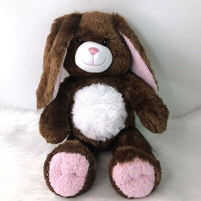 """Build A Bear Workshop Brown Fluffy Bunny Rabbit Easter Gift 16"""" Tall 2010 VGC"""