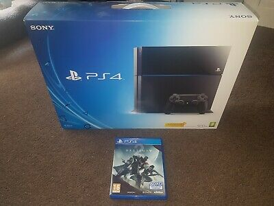 Sony PlayStation 4 Console Boxed 500gb Inc Destiny 2 & Official controller PS4