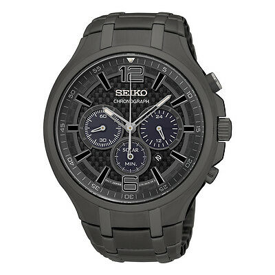 *BRAND NEW* Seiko Men's  Recraft Chronograph Grey Ion Plated Watch SSC453