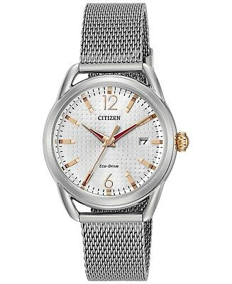 *BRAND NEW* Citizen Women's Eco-Drive Stainless Steel Mesh  Watch FE6081-51A