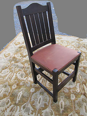 Antique L&jG STICKLEY  EARLY  Dining Chair MISSION Oak   w3132