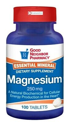 GNP Magnesium Tablets 250 mg Dietary Supplement 100 ct.