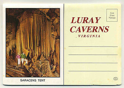 Vintage 1950's Fold-Out Postcard View Book LURAY CAVERNS, VIRGINIA