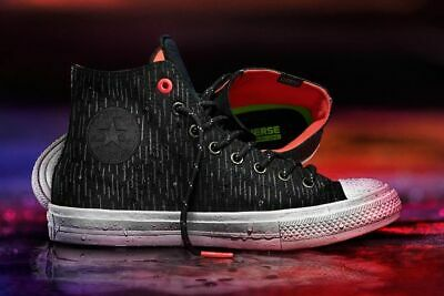 4dc55220c489 Converse Chuck Taylor All Star II Shield Hi Counter Climate Black Mens  Trainers
