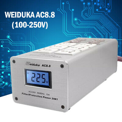 New Weiduka AC8.8 3000W 15A Advanced Audio Power Purifier Filter AC Power Socket