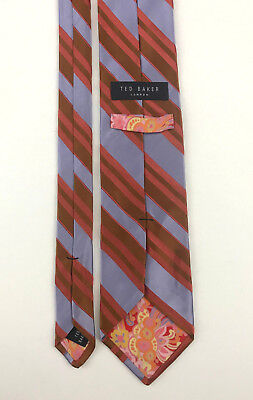 9fa50468d408 TED BAKER KNOTTED Men s Tie Solid 100% Silk Blue Classic Necktie ...