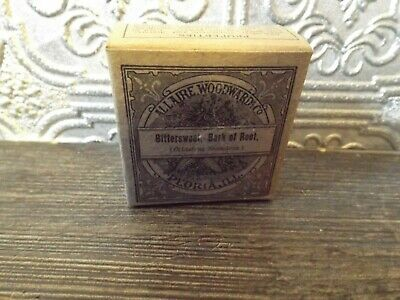 Vintage Drug Box Bittersweet Bark Of Root, Allaire Woodward & Co New Old Stock