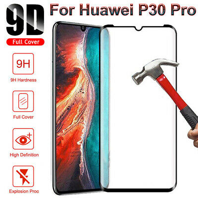 Fits For Huawei P30 Pro Lite 9D Tempered Glass Screen Protector Full Glass Cover