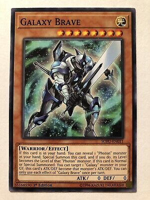 3x Galaxy Brave SOFU-EN011 Yu-Gi-Oh! NM Common 1st Ed