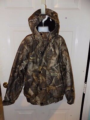 ef45f0c5124c6 Field & Stream Camo Jacket Hydroproof Ultra Realtree breathable Size M  Youth EUC